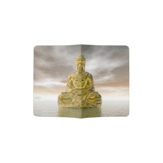 Bouddha d'or - 3D rendent Protège-passeport
