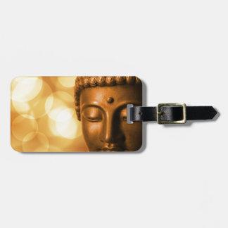 Bouddha d'or étiquette à bagage