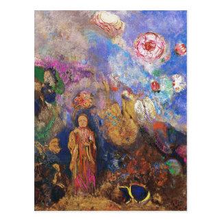 Bouddha et la fleur par Odilon Redon Carte Postale