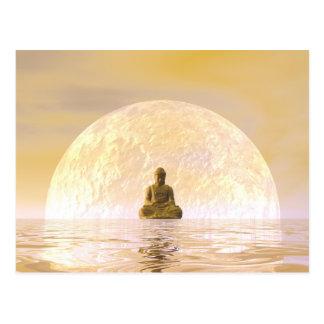Bouddha et lune carte postale
