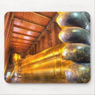 Bouddha étendu géant à l'intérieur de temple, Wat  Tapis De Souris