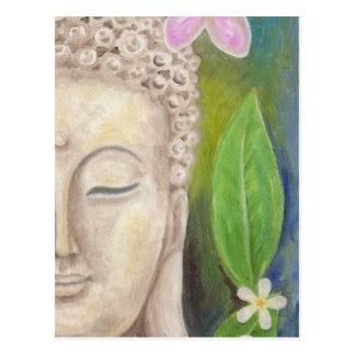 Bouddha font face à la carte postale