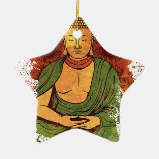 Bouddha Ornement Étoile En Céramique