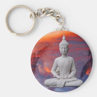 Bouddha Porte-clé Rond