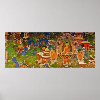 Bouddhisme bouddhiste de Bouddha bénissant le Poster