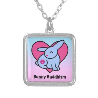 Bouddhisme sans fin de lapin pendentif carré