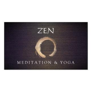 Bouddhiste de yoga et de méditation d'Enso de Carte De Visite Standard