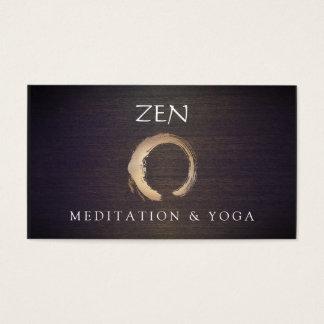 Bouddhiste de yoga et de méditation d'Enso de Cartes De Visite