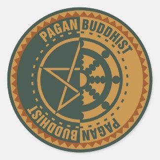 Bouddhiste païen sticker rond
