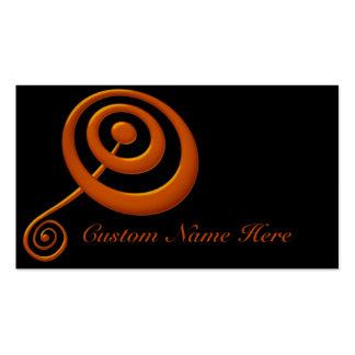 Boudine orange avec des cartes de visite de remous carte de visite standard