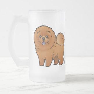 Bouffe de bouffe de bande dessinée frosted glass beer mug