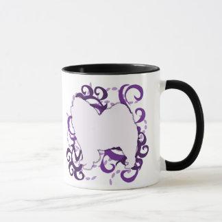 Bouffe de bouffe pourpre de remous mug