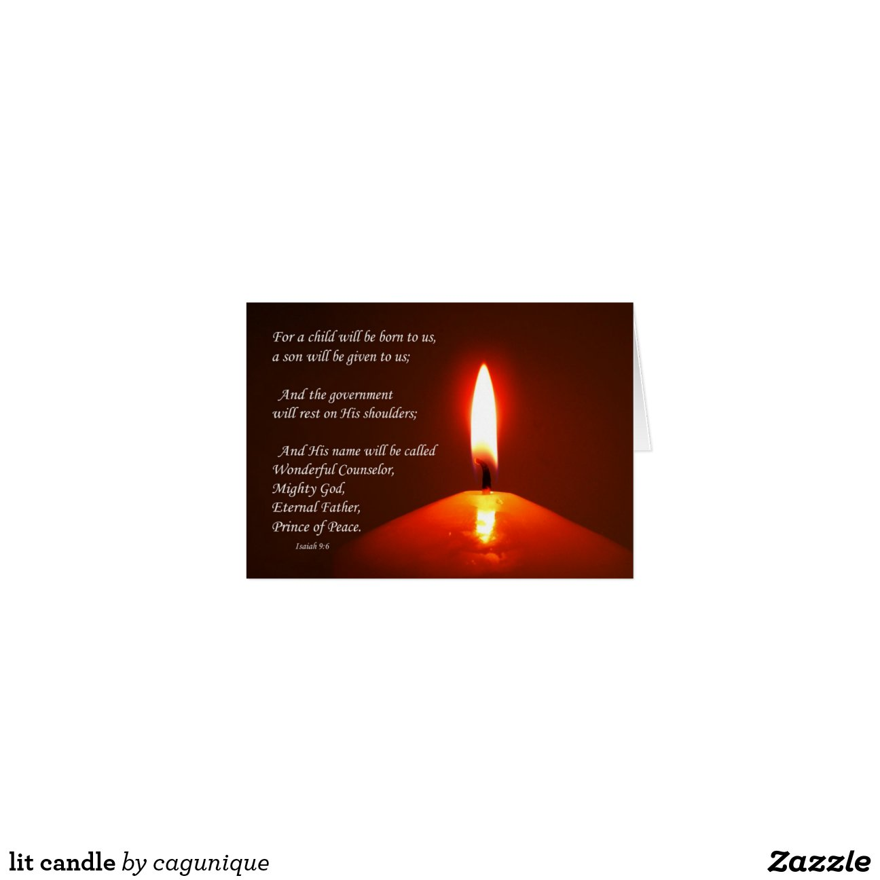 bougie allum 233 e carte de vœux zazzle