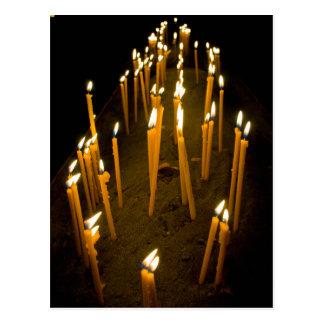 Bougies allumées dans une église, Arménie Carte Postale