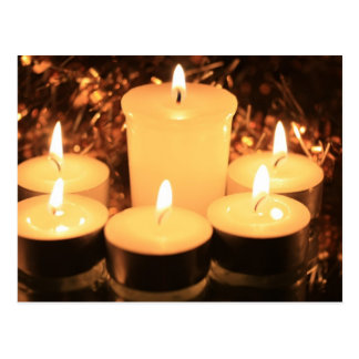 bougies brûlantes carte postale