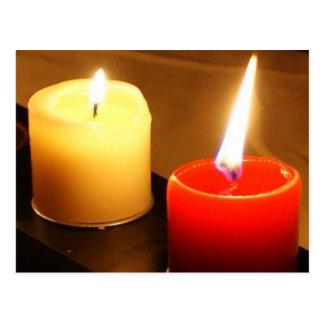Bougies de carte postale de photo - flammes