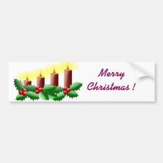 Bougies de Noël Autocollant Pour Voiture