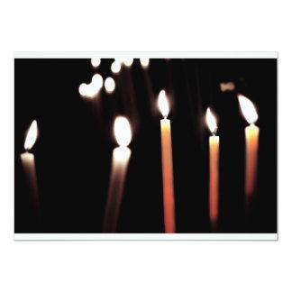 bougies double couleur carton d'invitation  12,7 cm x 17,78 cm