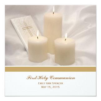 Bougies et sainte communion de livre de prière bristols