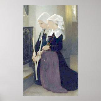 Bouguereau - à Sainte-Anne-d Auray de Le Voeu Posters