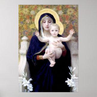 Bouguereau - Au Lys de Vierge de La Posters