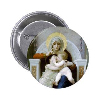 Bouguereau - La Vierge, L'Enfant Jésus et saint Je Badges Avec Agrafe