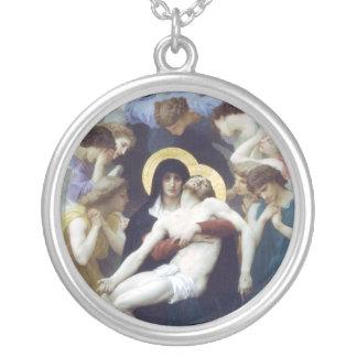 Bouguereau - La Vierge, L'Enfant Jésus et saint Je Collier Personnalisé