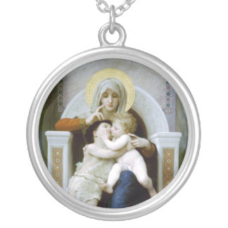 Bouguereau - La Vierge, L'Enfant Jésus et saint Je Pendentifs