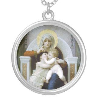 Bouguereau - La Vierge, L'Enfant Jésus et saint Je Pendentif Rond