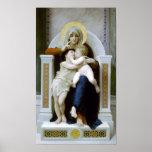 Bouguereau - La Vierge, L'Enfant Jésus et saint Je Posters