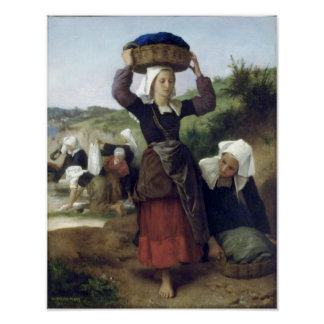 Bouguereau - Lavandieres de Fouesnant Poster