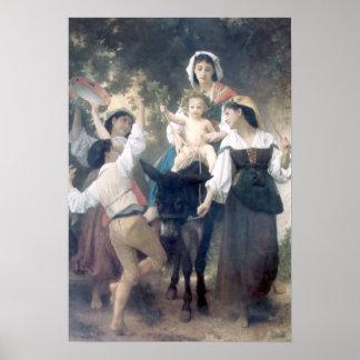 Bouguereau - Promenade un Ane Affiches
