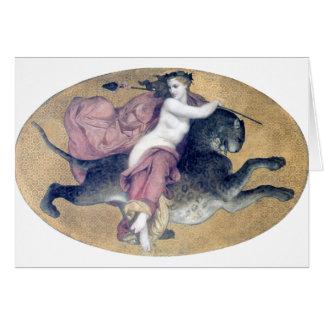 Bouguereau - une Panthère de sur de bacchante Carte De Correspondance