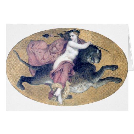 Bouguereau - une Panthère de sur de bacchante Cartes De Vœux