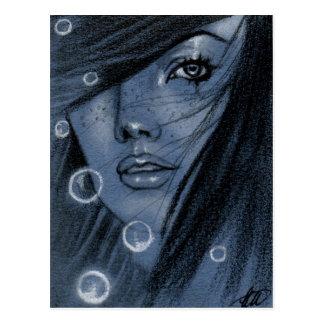 Bouillonne la carte postale bleue de sirène