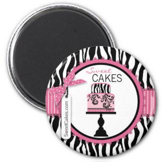 Boulangerie chic de gâteau de boutique magnet rond 8 cm