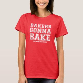 Boulangers allant faire la chemise cuire au four - t-shirt
