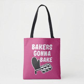 Boulangers allant faire le sac cuire au four des