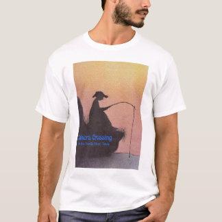 Boulangers de pêche de garçon @ croisant sur la t-shirt