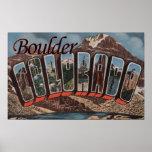 Boulder, le Colorado - grandes scènes de lettre Affiches