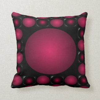 Boule 3D rouge de conception rougeâtre de Coussin