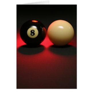 Boule 8 et boule de réplique carte de vœux