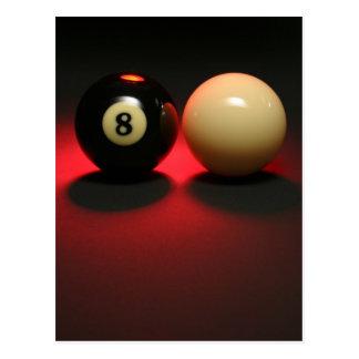 Boule 8 et boule de réplique carte postale