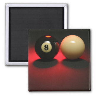 Boule 8 et boule de réplique magnet carré