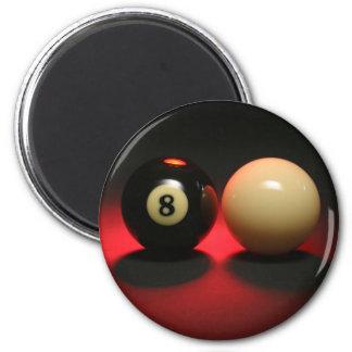 Boule 8 et boule de réplique magnet rond 8 cm