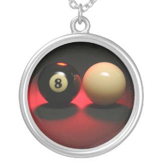 Boule 8 et boule de réplique pendentif rond