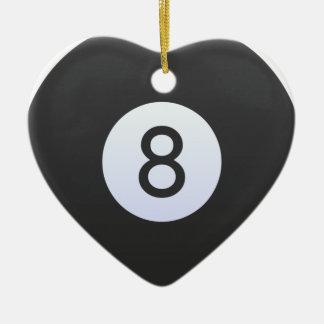 Boule 8 ornement cœur en céramique