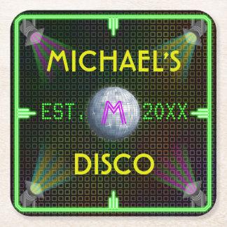 Boule à la maison personnalisable de disco des dessous-de-verre carré en papier