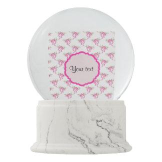Boule À Neige Arcs romantiques roses élégants