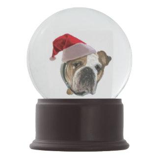 Boule À Neige Cadeau de Noël de Snowglobe de chien de bouledogue